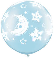 "90cm (36"") Blue ""Moon & Stars"" - Pack of 2"