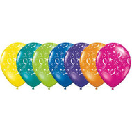 "28cm ""Balloons & Stars"" Assorted - Loose Each"