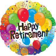 "Retirement ""Balloons"" - 43cm Flat Foil"