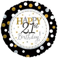 """#21 """"Happy 21st"""" - 43cm Flat Foil"""