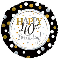 "#40 ""Happy 40th"" - 43cm Flat Foil"