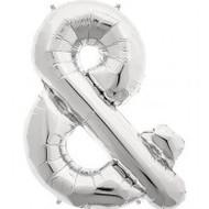 86cm Flat Shape - Silver Ampersand