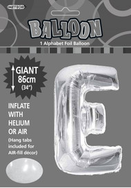 86cm Flat Alphaloon - Silver E
