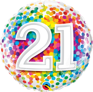 #21 Rainbow Confetti - 45cm Flat Foil
