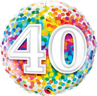 #40 Rainbow Confetti - 45cm Flat Foil