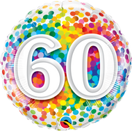 #60 Rainbow Confetti - 45cm Flat Foil