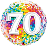 #70 Rainbow Confetti - 45cm Flat Foil