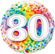 #80 Rainbow Confetti - 45cm Flat Foil