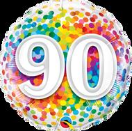 #90 Rainbow Confetti - 45cm Flat Foil