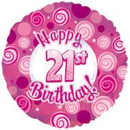 """#21 Glitzy """"Pink"""" - 45cm Flat Foil"""