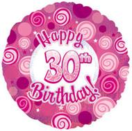 """#30 """"Glitzy Pink"""" - 45cm Flat Foil"""