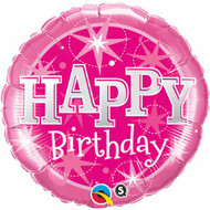 Pink Birthday Sparkle - 45cm Inflated Foil