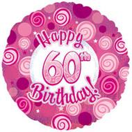 """#60 Glitzy """"Pink"""" - 45cm Flat Foil"""