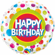 Polka Dots Birthday - 45cm Inflated Foil