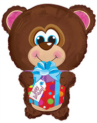 "Flat CTI Shape - 22"" Birthday Bear"
