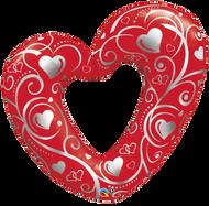 Hearts & Filigree - Inflated Shape