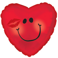 Smiley Kiss - 43cm Inflated Foil