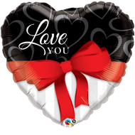 ILY Red Ribbon - 45cm Inflated Foil