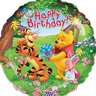 Winnie Birthday - Inflated Foil