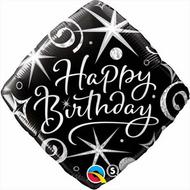 Elegant Birthday - 45cm Flat Foil