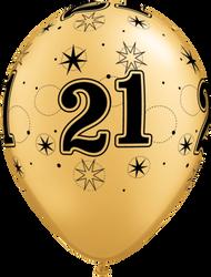 28cm #21 Black on Gold - Loose Each