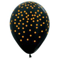 "30cm Confetti ""Gold on Black"" - Loose Each"