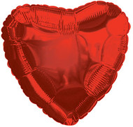 43cm Solid Red Heart - Inflated