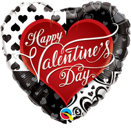 "HVD ""Black Hearts"" - 45cm Inflated Foil"