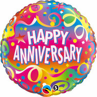 "Anniversary ""Confetti"" - 45cm Inflated Foil"