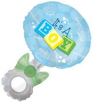 "Baby Boy ""Rattle"" - Inflated Large Shape"