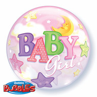 "IAG ""Baby Girl"" - Inflated 22"" Bubble"