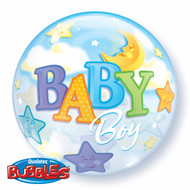 "IAB ""Baby Boy"" - Inflated 22"" Bubble"