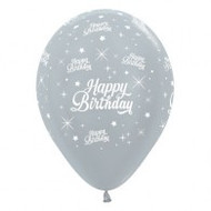 "30cm Birthday ""Pearl Silver"" - Pack of 25"