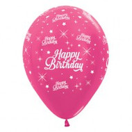 "30cm Birthday ""Metallic Fuchsia"" - Pack of 25"