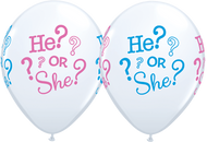 28cm Gender Reveal Latex -  Loose Each