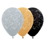 30cm Stars All Round Latex - Pack of 25