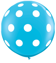 "90cm (36"") Blue Polka Dots - Pack of 2"