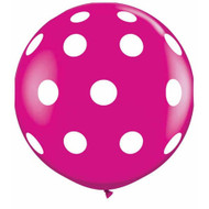 "90cm (36"") Wild Berry Polka Dots - Pack of 2"