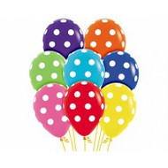 "30cm ""Polka Dots"" Latex - Pack of 12"