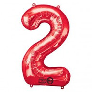 #2 Red - Inflated 86cm Shape