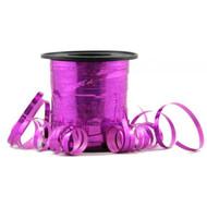 5mm x 225mtr Holographic Fuchsia Metallic Curl Ribbon