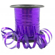 5mm x 225mtr Holographic Purple Metallic Curl Ribbon