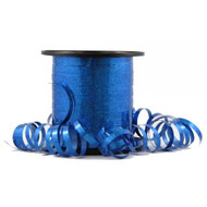 5mm x 225mtr Holographic Blue Metallic Curl Ribbon