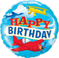 """Birthday """"Airplane"""" - 45cm Inflated Foil"""