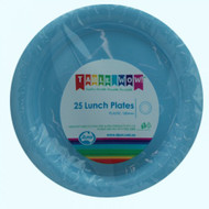 Light Blue Plastic Plates - Pkt 25 x 180mm