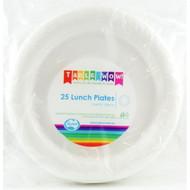 White Plastic Plates - Pkt 25 x 180mm