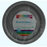 Silver Plastic Plates - Pkt 25 x 180mm