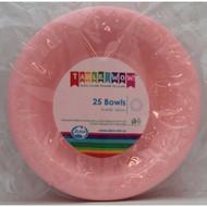 Light Pink Plastic Bowls - Pkt 25 x 180mm