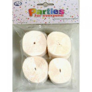 35mm Crepe Streamers - White Pack of 4
