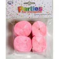 35mm Crepe Streamers - Pink Pack of 4